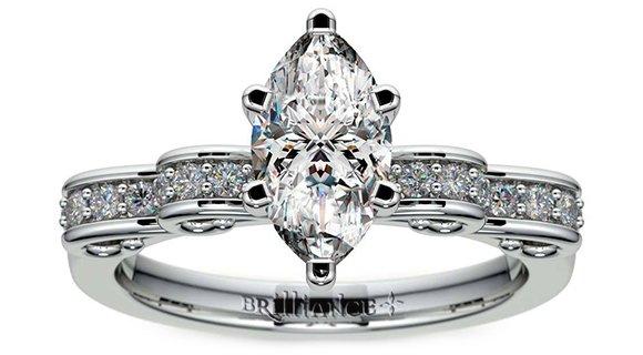 Cinderella Ribbon Engagement Ring