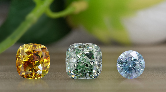 Determining a Fancy Colored Diamond