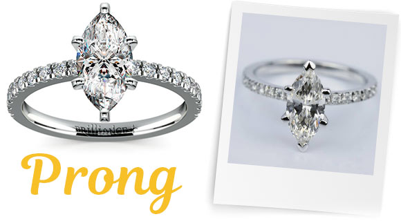 Marquise Diamonds in Prong Settings
