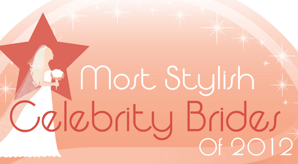 Most Stylish Celebrity Brides Infographic