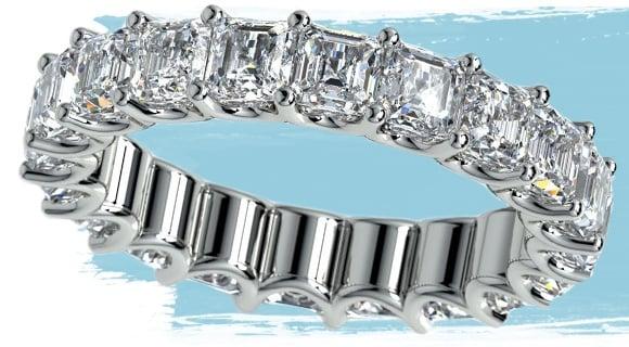 Prong Diamond Eternity Ring