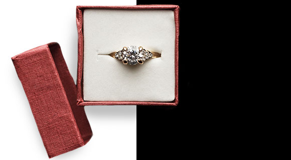 Proposing with a vintage-inspired...