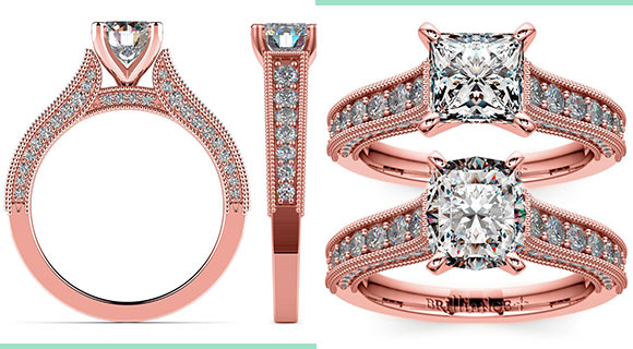 Rose Gold Vintage Engagement Ring: Right On Trend