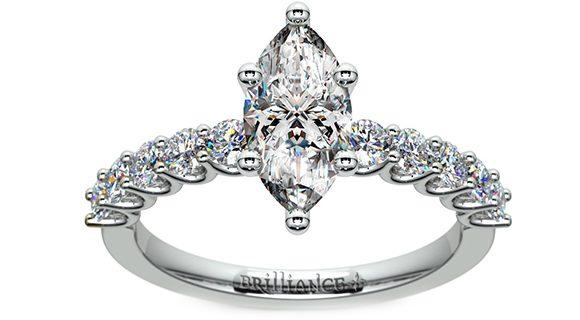 U-Prong Diamond Engagement Ring