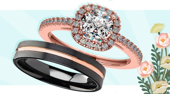 Wedding and Engagement Rings with Opposite Metals