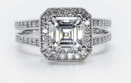 Asscher Diamond Wedding Rings | Brilliance.com