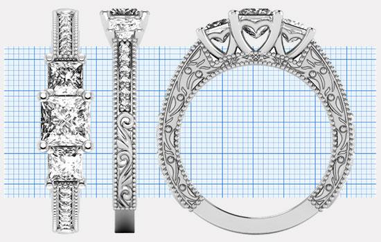 Custom Princess Rings | Brilliance.com