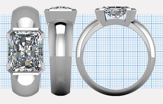 Custom Radiant Rings | Brilliance.com