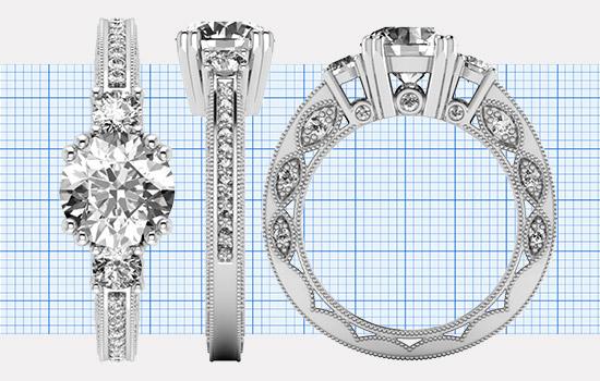 Custom Round Rings   Brilliance.com