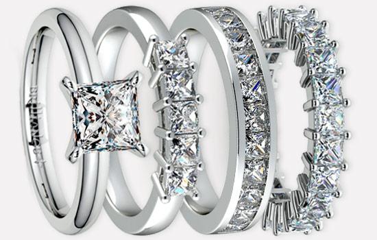 Princess Diamond Ring Settings   Brilliance.com