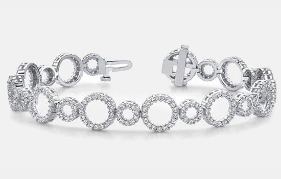 Bracelets with Gold Diamonds & Gemstones