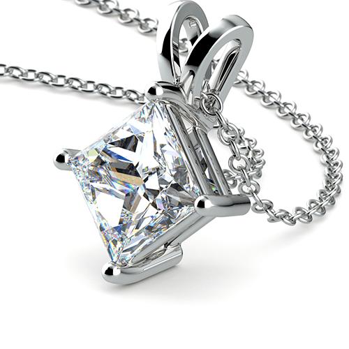 Princess Diamond Solitaire Pendant