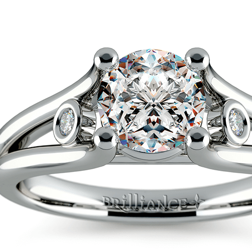 Diamond Accent Solitaire Engagement Ring