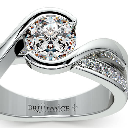 Bezel Bridge Engagement Ring