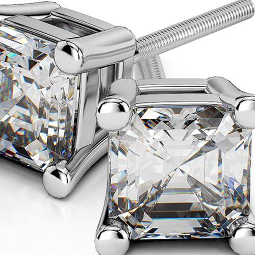 Asscher Diamond Stud Earrings