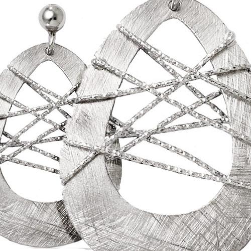 Modern Wire-Wrapped Dangle Earrings