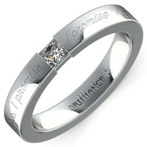 """I Promise"" Princess Diamond Promise Ring"