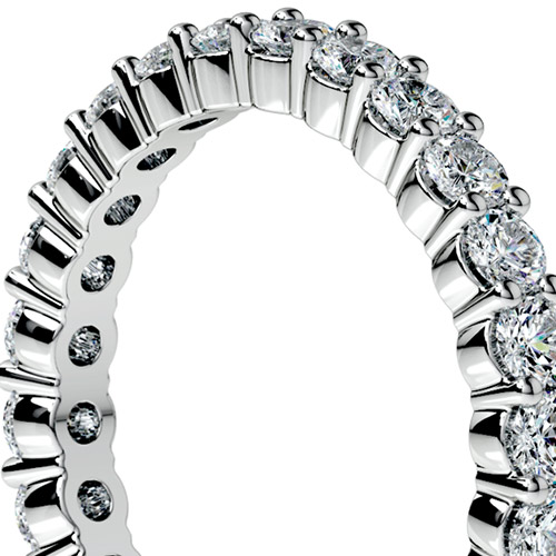 Shared-Prong Eternity Band