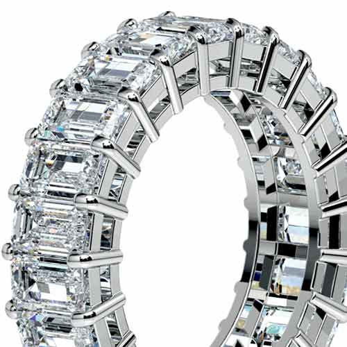 Emerald Diamond Eternity Ring