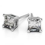Asscher Diamond Stud Earrings in Platinum (1 1/2 ctw) | Thumbnail 01