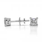 Asscher Diamond Stud Earrings in Platinum (1/3 ctw) | Thumbnail 03