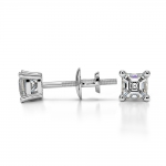 Asscher Diamond Stud Earrings in Platinum (1/4 ctw) | Thumbnail 03
