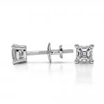 Asscher Diamond Stud Earrings in Platinum (1/4 ctw) | Thumbnail 03
