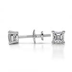 Asscher Diamond Stud Earrings in White Gold (1/4 ctw) | Thumbnail 03