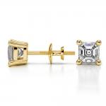 Asscher Diamond Stud Earrings in Yellow Gold (1 ctw) | Thumbnail 03