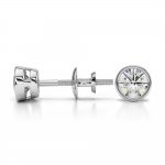 Bezel Diamond Stud Earrings in Platinum (1/2 ctw) | Thumbnail 03