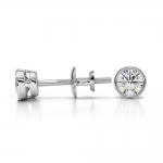 Bezel Diamond Stud Earrings in Platinum (1/3 ctw) | Thumbnail 03