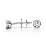 Bezel Diamond Stud Earrings in Platinum (1/4 ctw) | Thumbnail 03