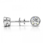 Bezel Diamond Stud Earrings in Platinum (3/4 ctw) | Thumbnail 03