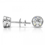 Bezel Diamond Stud Earrings in 14K White Gold (1 1/2 ctw) | Thumbnail 03