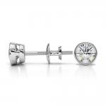 Bezel Diamond Stud Earrings in 14K White Gold (1/2 ctw) | Thumbnail 03