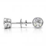 Bezel Diamond Stud Earrings in 14K White Gold (3/4 ctw) | Thumbnail 03