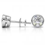 Bezel Diamond Stud Earrings in 14K White Gold (4 ctw) | Thumbnail 03