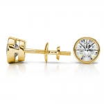Bezel Diamond Stud Earrings in 14K Yellow Gold (1 1/2 ctw) | Thumbnail 03