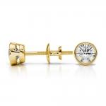 Bezel Diamond Stud Earrings in 14K Yellow Gold (1/2 ctw) | Thumbnail 03