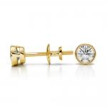 Bezel Diamond Stud Earrings in 14K Yellow Gold (1/3 ctw) | Thumbnail 03