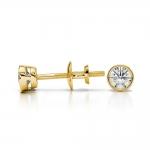 Bezel Diamond Stud Earrings in 14K Yellow Gold (1/4 ctw) | Thumbnail 03