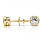 Bezel Diamond Stud Earrings in Yellow Gold (3/4 ctw)   Thumbnail 03