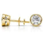 Bezel Diamond Stud Earrings in 14K Yellow Gold (4 ctw) | Thumbnail 03