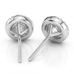 Halo Diamond Earrings in Platinum (1 ctw) | Thumbnail 02