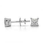 Princess Diamond Stud Earrings in Platinum (1/3 ctw) | Thumbnail 03
