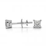Princess Diamond Stud Earrings in Platinum (1/4 ctw) | Thumbnail 03