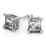 Princess Diamond Stud Earrings in Platinum (2 ctw) | Thumbnail 01