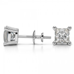 Princess Diamond Stud Earrings in Platinum (2 ctw) | Thumbnail 03