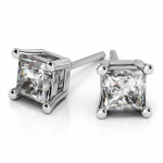 Princess Diamond Stud Earrings in Platinum (3 ctw) | Thumbnail 01