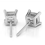 Princess Diamond Stud Earrings in White Gold (1 1/2 ctw) | Thumbnail 02